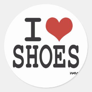 Amo los zapatos etiquetas