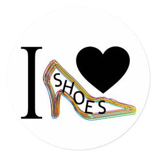 """Amo los zapatos invitación 5.25"""" x 5.25"""""""