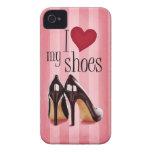 Amo los zapatos iPhone 4 protectores