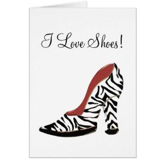 ¡Amo los zapatos! - Tarjeta