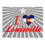 Amo Louisville, Colorado Tarjeta Postal