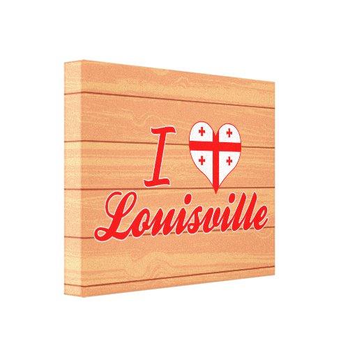 Amo Louisville, Georgia Lona Estirada Galerías