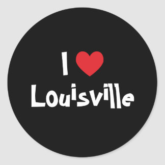 Amo Louisville Pegatina Redonda