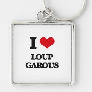 Amo Loup Garous Llavero Cuadrado Plateado