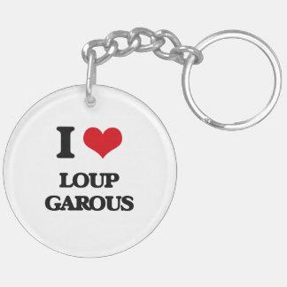 Amo Loup Garous Llavero Redondo Acrílico A Doble Cara
