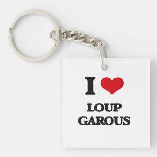 Amo Loup Garous Llavero Cuadrado Acrílico A Una Cara