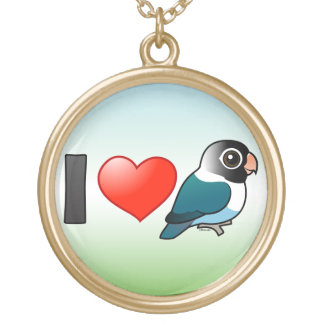 Amo Lovebirds enmascarados azul Collar Personalizado