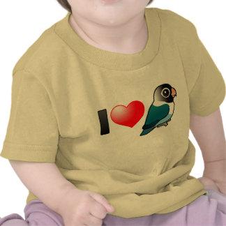 Amo Lovebirds enmascarados azul Camiseta