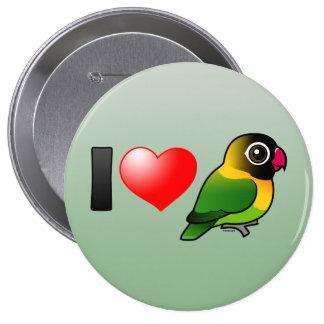 Amo Lovebirds enmascarados Pin