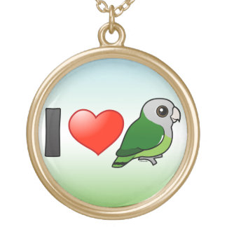Amo Lovebirds Gris-dirigidos Collar Personalizado