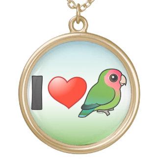 Amo Lovebirds Melocotón-hechos frente Grimpola Personalizada