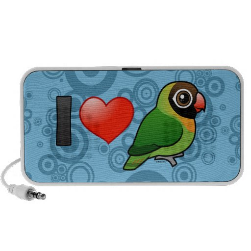 Amo Lovebirds Negros-cheeked Altavoz De Viajar