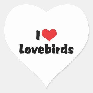 Amo Lovebirds Pegatina En Forma De Corazón