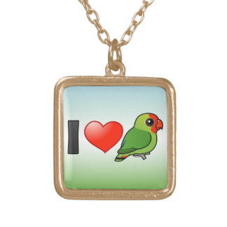 Amo Lovebirds Rojo-dirigidos Pendientes Personalizados