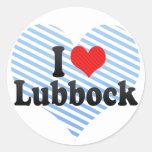 Amo Lubbock Pegatina Redonda