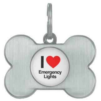 amo luces de emergencia placas de mascota
