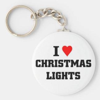 Amo luces de navidad llavero personalizado