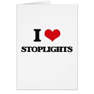 Amo luces de parada tarjeta de felicitación