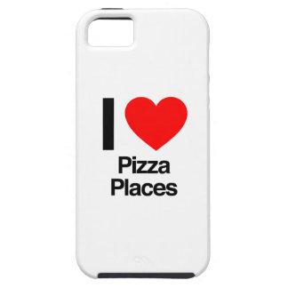 amo lugares de la pizza iPhone 5 fundas