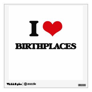 Amo lugares de nacimiento