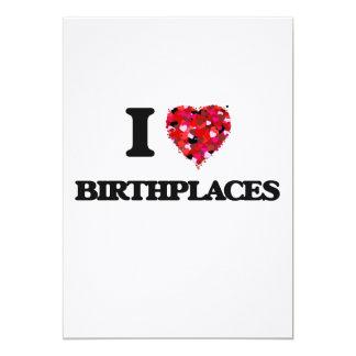 """Amo lugares de nacimiento invitación 5"""" x 7"""""""