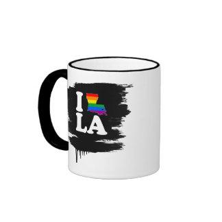 AMO LUISIANA GAY - BLANCO - .PNG TAZAS DE CAFÉ