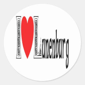 Amo Lunenburg Pegatina Redonda
