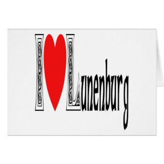 Amo Lunenburg Tarjeta De Felicitación