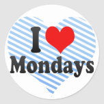 Amo lunes pegatinas redondas