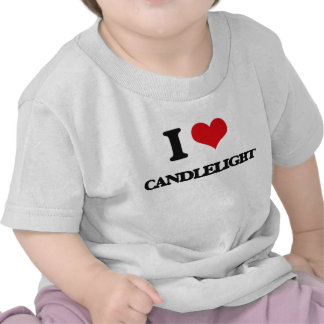 Amo luz de una vela camiseta