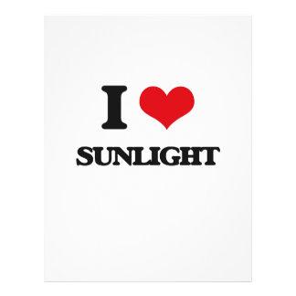 Amo luz del sol flyer personalizado