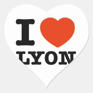 Amo Lyon Pegatina En Forma De Corazón
