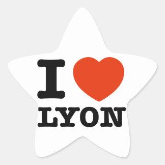 Amo Lyon Pegatina En Forma De Estrella