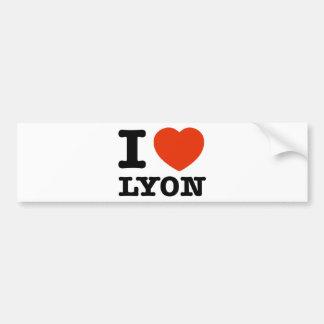 Amo Lyon Pegatina Para Auto