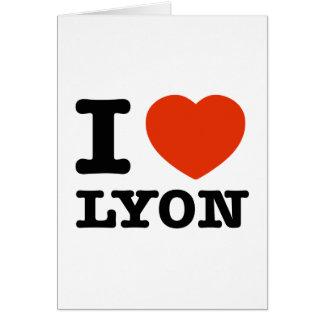 Amo Lyon Tarjeta De Felicitación
