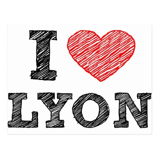 Amo Lyon Tarjeta Postal