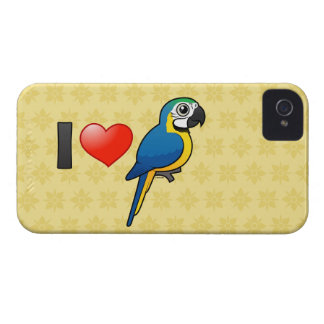 Amo Macaws Azul-y-amarillos Case-Mate iPhone 4 Carcasas