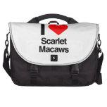 amo macaws del escarlata bolsa de ordenador