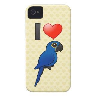 Amo Macaws del jacinto Case-Mate iPhone 4 Cárcasas