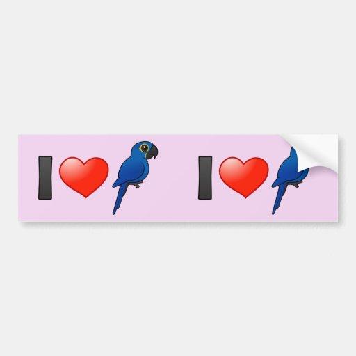 Amo Macaws del jacinto Pegatina Para Auto