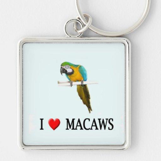 Amo macaws llaveros