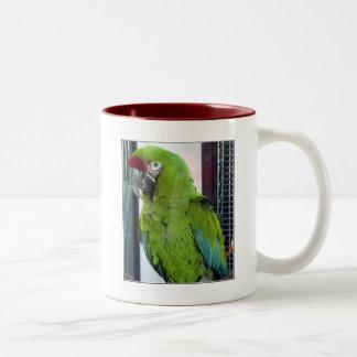 ¡Amo macaws! Taza De Dos Tonos