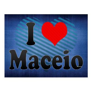 Amo Maceio, el Brasil Tarjeta Postal