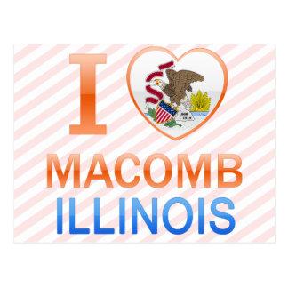 Amo Macomb, IL Tarjeta Postal