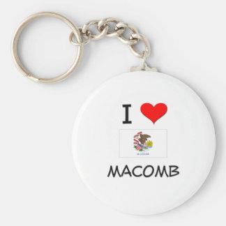Amo MACOMB Illinois Llavero Redondo Tipo Pin