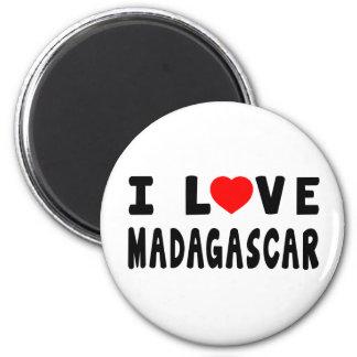 Amo Madagascar Imán Redondo 5 Cm