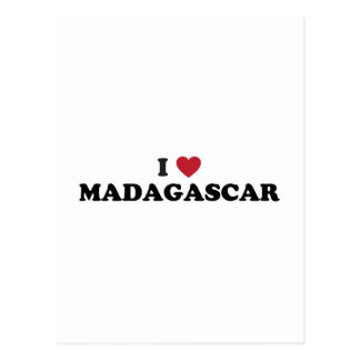 Amo Madagascar Tarjetas Postales