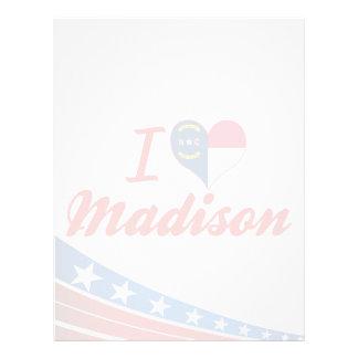 Amo Madison, Carolina del Norte Membretes Personalizados