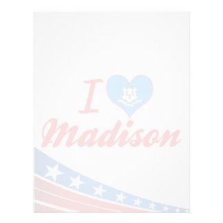 Amo Madison, Connecticut Membretes Personalizados