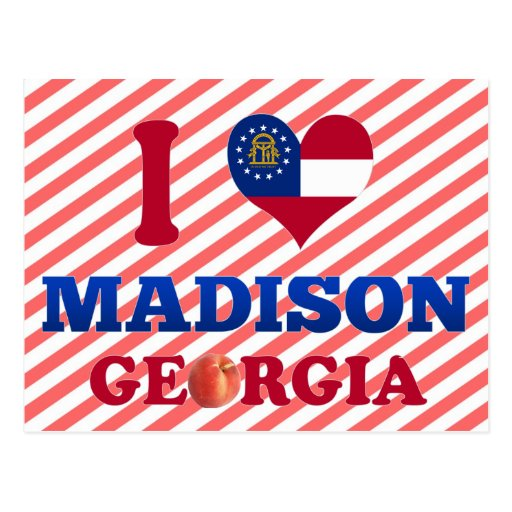 Amo Madison, Georgia Tarjetas Postales